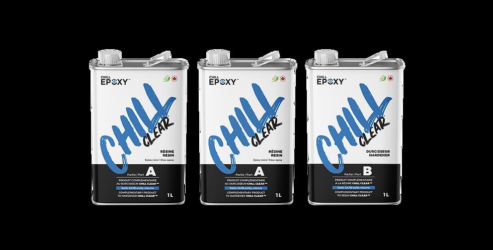 CHILL CLEAR Epoxy, 3L Kit