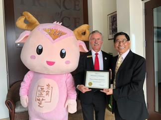 利弗莫爾市長John Marchand親臨美國太子行參觀交流,了解華商企業運作