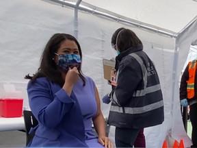 【三藩市】: 市長接種新冠肺炎疫苗 呼籲民眾儘快接打