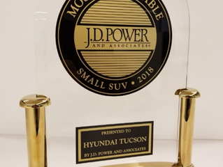 現代汽車Tucson榮獲J.D. Power最可靠小型休旅車殊榮