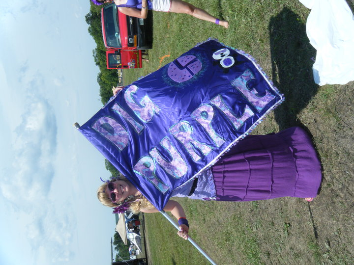 LIL LAUREN AND THE BIG PURP FLAG