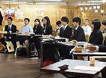 10名の学生さんと 各社の経営者