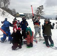 ガンダム達とスノーボード