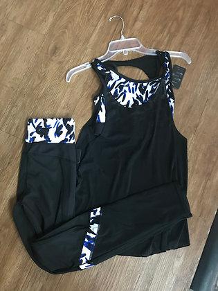 Blue Cheetah Print Athleticwear Set