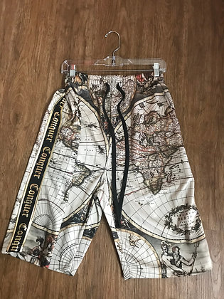 Victorious Shorts Conquer World Map Geo Shapes Trim