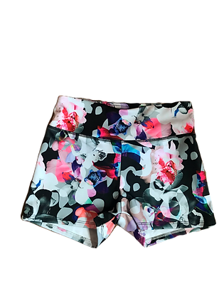 Pink and Blue Bubbles Floral Shorts