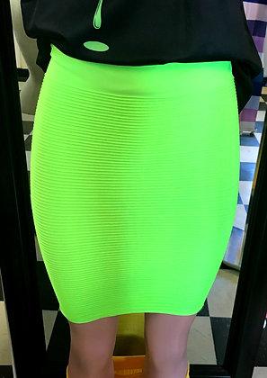 Neon Bodycon Mini Skirt
