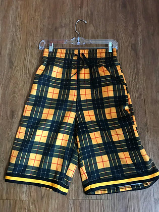 Rolling Papers Black Yellow Plaid Shorts