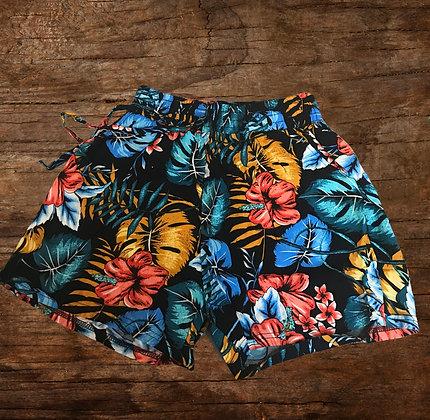 Hawaiian Print Rainforest Pattern Shorts