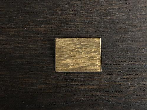 真鍮の四角ブローチ