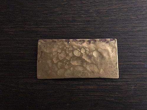 真鍮の長四角ブローチ