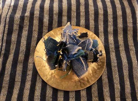 8/23(日)真鍮と会津木綿のブローチ作り