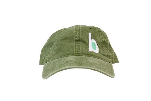 olive b-logo cap