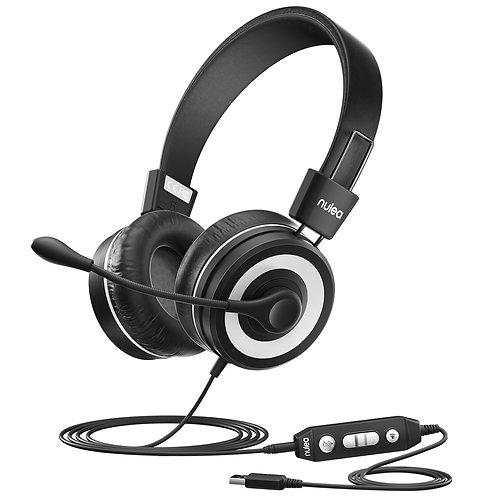 Nulaxy Kids Headphones with Microphone Black