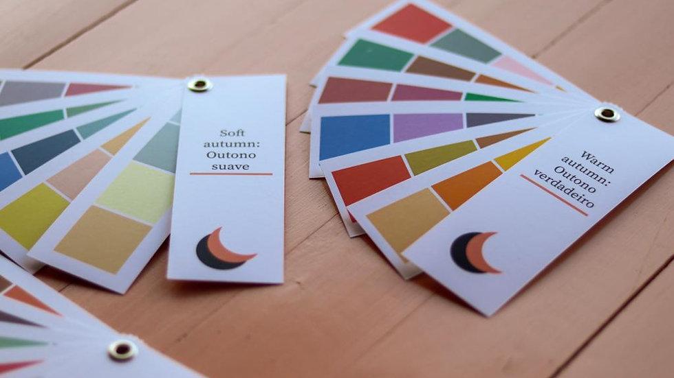 Paletas de análise da coloração pessoal
