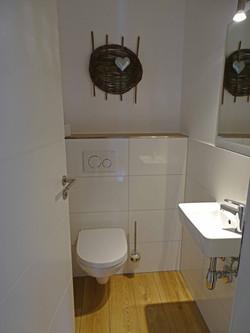 WC im oberen Stock