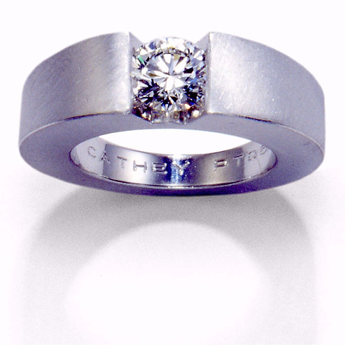 Bespoke Diamond Engagement Ring in Platinum