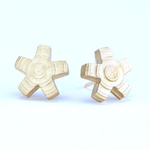 18K Gold Asterisk Studs