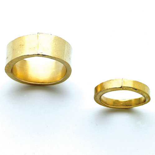 """""""Two are One"""" Wedding Rings in Gold"""