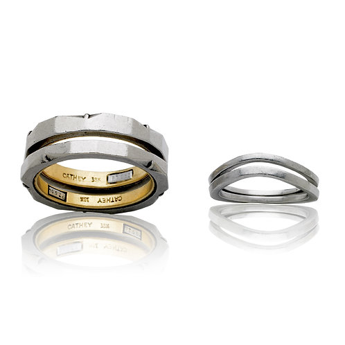 """Two are One"" Series Wedding Rings"