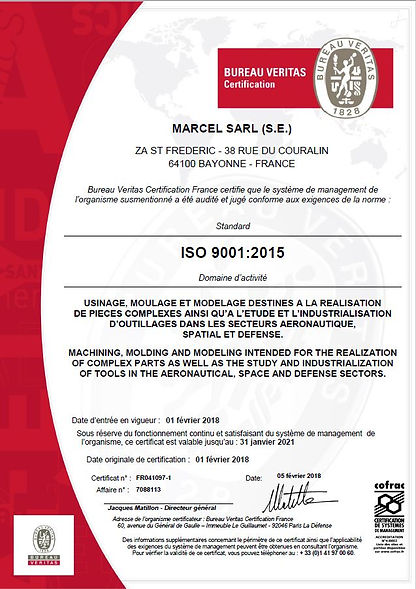 Notre diplome ISO9001