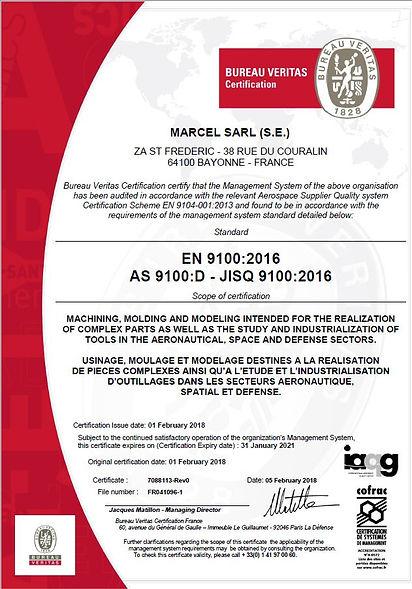 Notre diplome EN9100