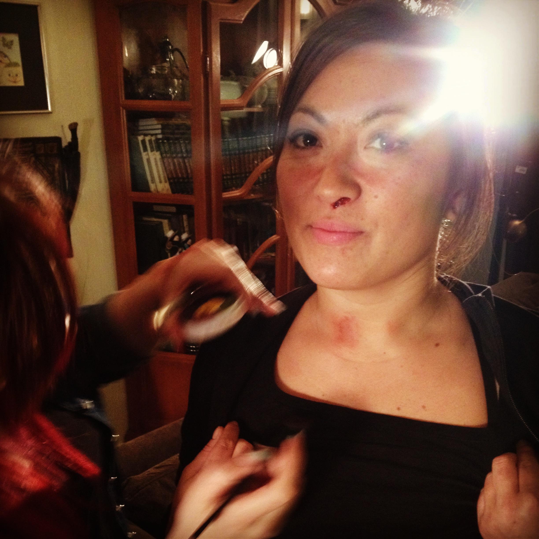 Make-up for fight scene