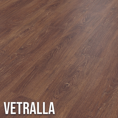 Vertrella is a deeper design with rich chocolate tones.  The warmth of this oak effect, teamed with the realistic grain detail, creates an authentic look in any space. 1220 x 179mm (plank)