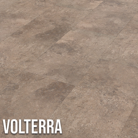 Volterra offers a very natural looking stone design, mixing brown, beige and grey to create a popular mottled effect.  The limestone inspired tile, with its subtle surface texture, offers all the visual benefits of real stone, without the practical challenges. 307 x 600mm (tile)