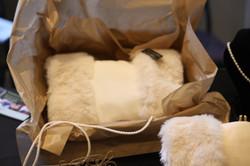 White Muff in Delivery Box