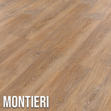 This light brown design showcases rich golden highlights, providing a neutral yet warm base for any room.  With intricate knot and grain details, Montieri offers all the visual benefits of traditional oak without the practical drawbacks of real timer. 1220 x 179mm (plank)