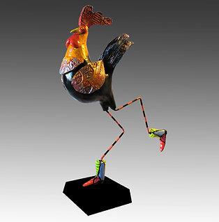 Banty Black Rooster