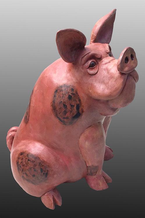 ceramic pink pig