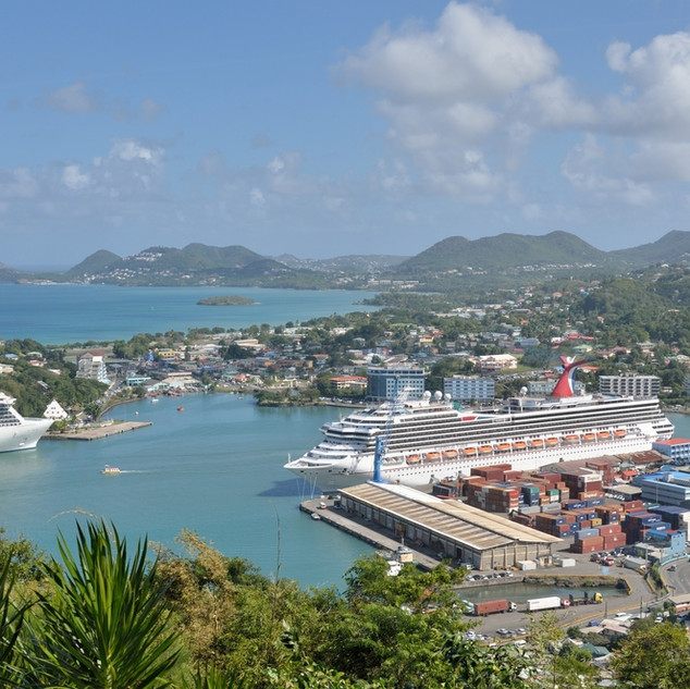 Castries harbour-from-Morne-Fortune View