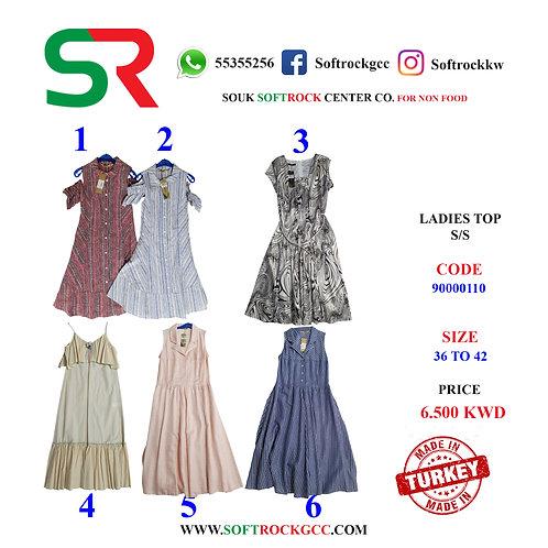 Ladies Long Dress S/S