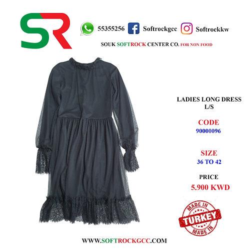 Ladies Long Dress L/S