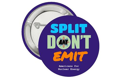 """Button Pins (2.25"""") 3CT - Split Don't Emit"""