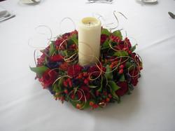 Xmas table wreath