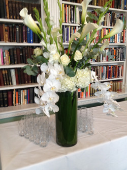 Orchids with white calla