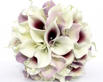 Bride bouquet mixte calla lilies