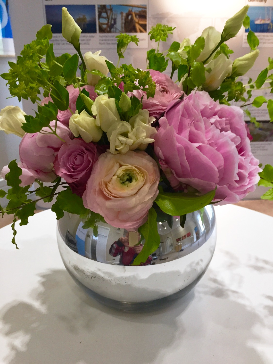 Peonies in a fishbowl