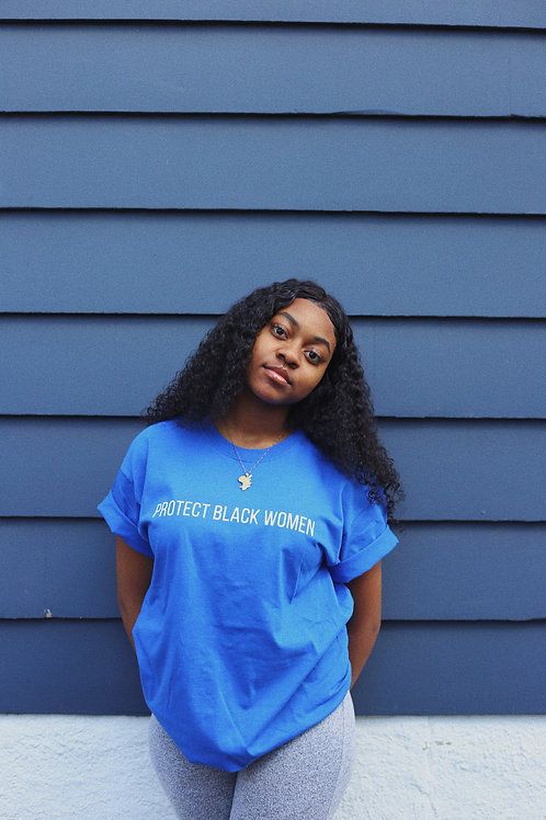 Protect Black Women - Blue Tee