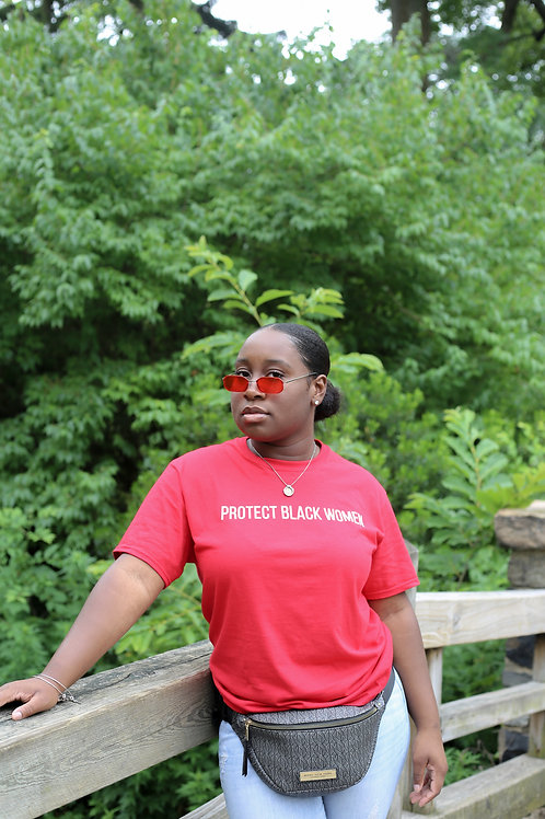Protect Black Women- Red Tee