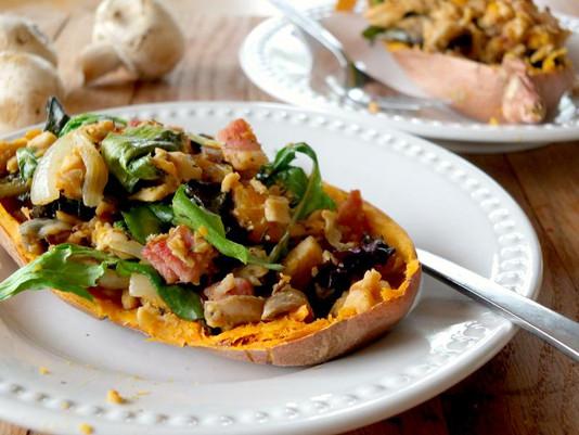 Xmas Countdown - Chicken & Bacon Salad Boats