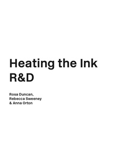 Heating the Ink
