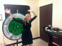 Staff Jane with wheels of funnel