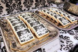 B&W Damask Cookies