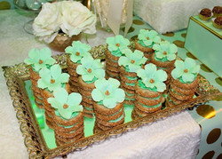 Stacked cookies w/Flower