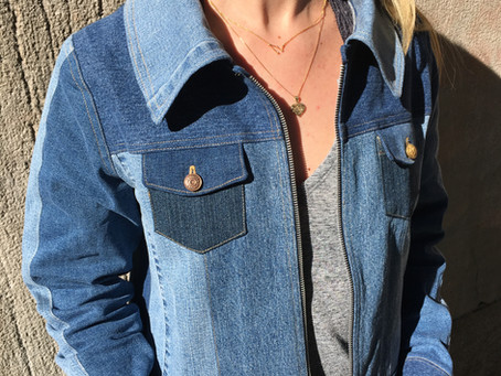 Sewing a Denim Jacket from Vintage Jeans