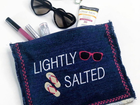 Lightly Salted Zipper Pouch & Free Download